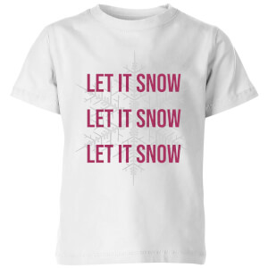 Let It Snow Kids' Christmas T-Shirt - White