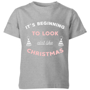 It's Beginning To Look A Lot Like Christmas Kids' Christmas T-Shirt - Grey