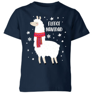 Fleece Navidad Kids' Christmas T-Shirt - Navy