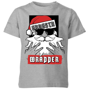 Gangsta Wrapper Kids' Christmas T-Shirt - Grey
