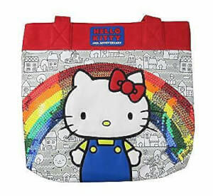Loungefly Hello Kitty 40th Sequins Rainbow Tote Bag