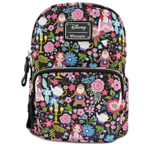 Loungefly Disney Beauty and the Beast Belle Floral Aop Mini Backpack