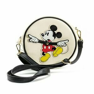 Loungefly Disney Mickey Mouse Mickey Clock Arms Cross Body Bag