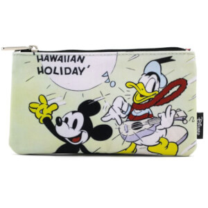 Loungefly Disney Mickey Mouse Mickey Hawaiian Surf Zippered Pouch
