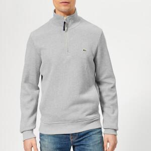 Lacoste Men's Classic Embossed Logo Zip Sweatshirt - Grey