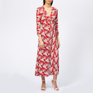 RIXO Women's Katie Diana Floral Maxi Dress - Red