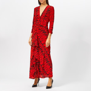 RIXO Women's Rose Tiger Maxi Dress - Rose Red