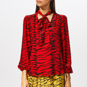RIXO London Women's Moss Tiger Blouse - Moss Red