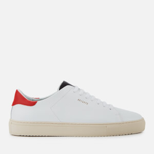 Axel Arigato Men's Clean 90 Leather Trainers - White/Red