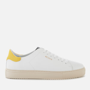 Axel Arigato Women's Clean 90 Leather Trainers - White/Yellow