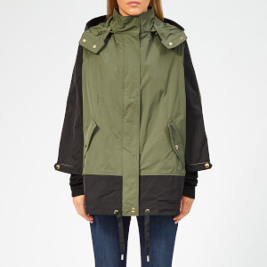 Woolrich Women's Beaver Contrast Colour Anorak - Tropical Green