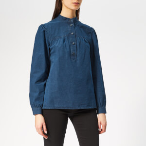 A.P.C. Women's Loula Denim Shirt - Indigo