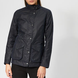Barbour Women's Fleetwood Wax Coat - Royal Navy