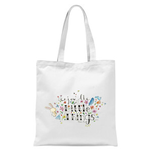 A Little Cloth Rabbit Enjoy The Little Things Tote Bag - White
