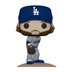 MLB New Jersey Clayton Kershaw Pop! Vinyl Figure