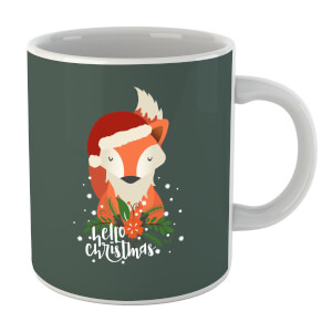 Christmas Fox Hello Christmas Mug