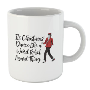 Its Christmas, Dance Like A Weird Robot Mug