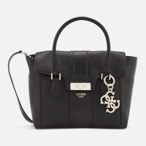 Guess Women's La Hip Flap Satchel - Black