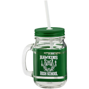 Stranger Things (Hawkins High School) Mason Jar - Green