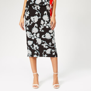Diane von Furstenberg Women's Kara Flower Skirt - Sequin Flower Black