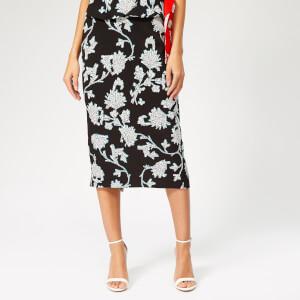 Diane von Furstenberg Women's Kara Flower Skirt - Sequin Flower Black