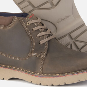 Clarks Men's Vargo Mid Leather Chukka Boots - Olive: Image 4
