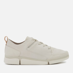 Clarks Men's Triverve Lace Leather Trainers - White