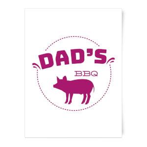 Dads BBQ Art Print
