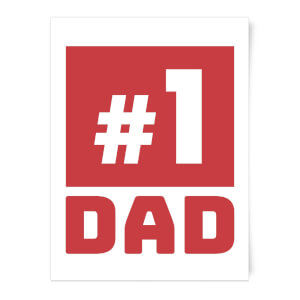 Number 1 Dad Art Print