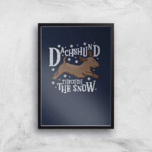 Dachshund Through The Snow Art Print