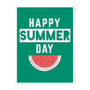 Happy SUmmer Day Art Print