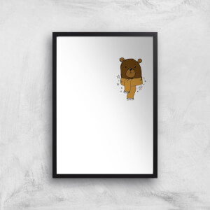 Christmas Bear Pocket Art Print