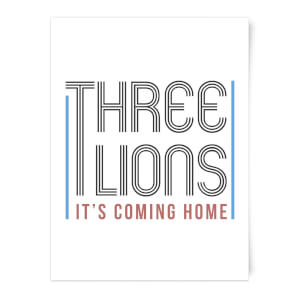 Three Lions It's Coming Home Art Print