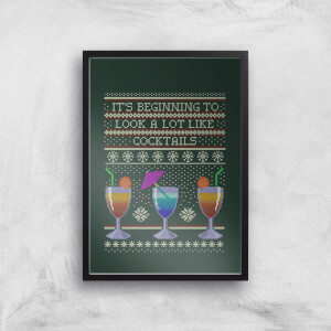 Its Beginning To Look A Lot Like Cocktails Art Print