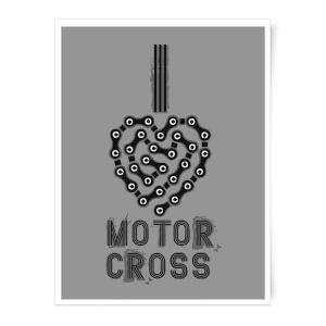 I Love Motorcross Art Print