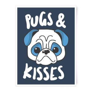 Pugs & Kisses Art Print