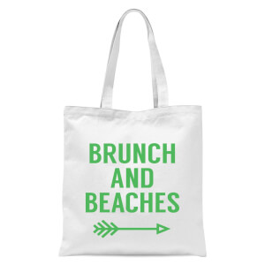 Brunch and Beaches Tote Bag - White