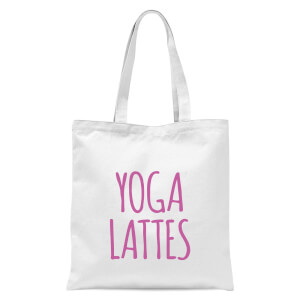 Yoga Lattes Tote Bag - White