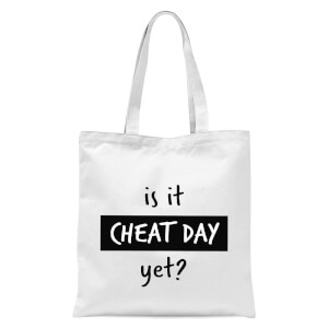 Is It Cheat Day Tote Bag - White