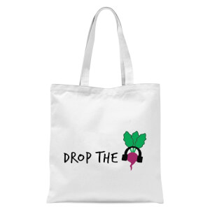 Drop The Beet Tote Bag - White