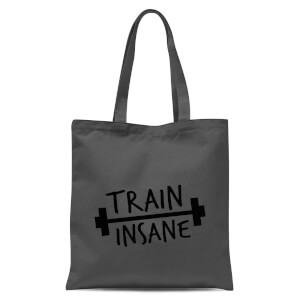 Train Insane Tote Bag - Grey