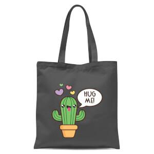 Hug Me Cactus Tote Bag - Grey