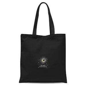 The Moon Made Me Do It Tote Bag - Black