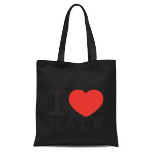 I Heart Kale Tote Bag - Black