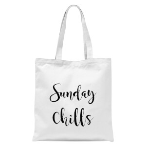Sunday Chills Tote Bag - White