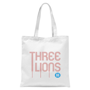 Three Lions Tote Bag - White