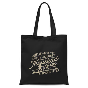 Every Journey Begins with A Single Step Tote Bag - Black