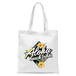 Aloha Beach Vibes Tote Bag - White