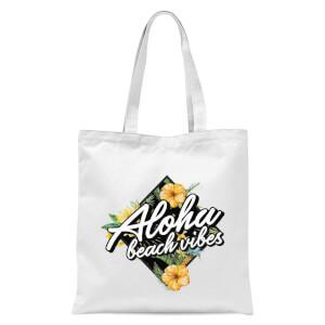 Aloha Beach Vibes Tote Bag - White
