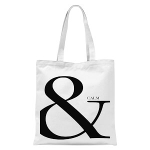 & Calm Tote Bag - White